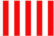 Red And White Striped 5' x 3' Larger Sleeved Flag